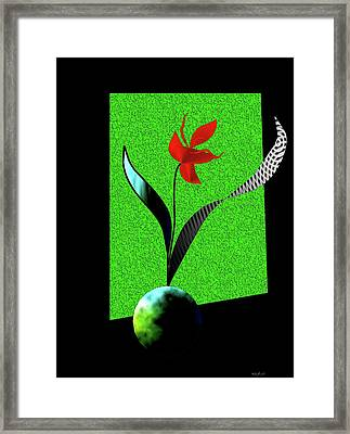 Framed Print featuring the digital art Flower Show by Asok Mukhopadhyay