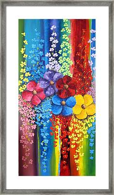 Flower Shower Framed Print by Katia Aho