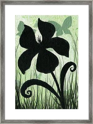 Flower Silhouette 10 Framed Print by Elaina  Wagner