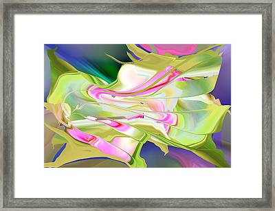 Framed Print featuring the digital art Flower Song Abstract by rd Erickson