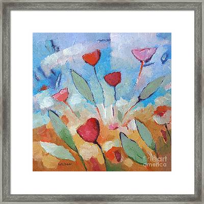 Flower Square Framed Print
