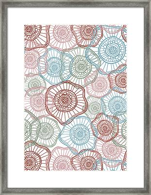 Flower Squiggle Framed Print by Susan Claire