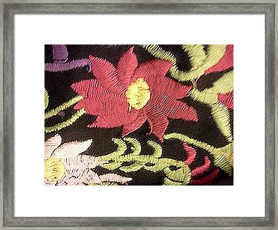 Flower Stich Framed Print