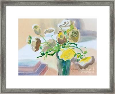 Flower Still Life          Framed Print by Kathy Braud