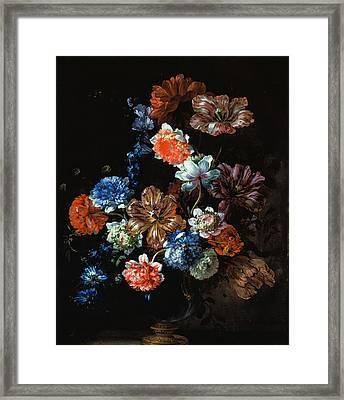 Flower Still Life Framed Print by Jean-Baptiste Monnoyer