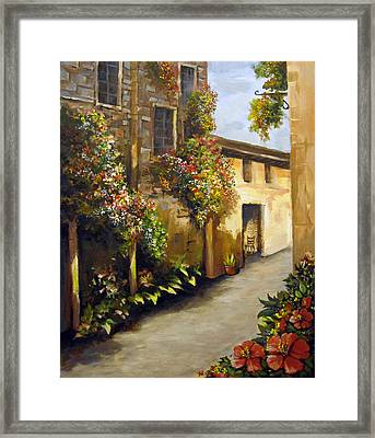 Flower Street Framed Print
