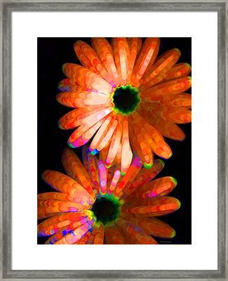 Flower Study 5 - Vibrant Orange By Sharon Cummings Framed Print by Sharon Cummings