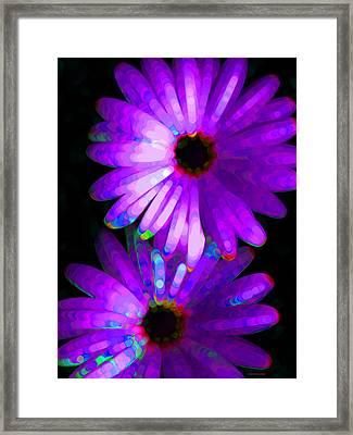 Flower Study 6 - Vibrant Purple By Sharon Cummings Framed Print by Sharon Cummings