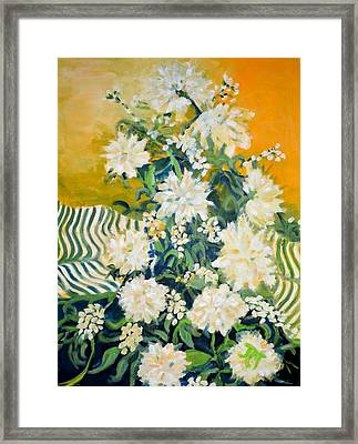 Framed Print featuring the painting Flower Study by Julie Todd-Cundiff