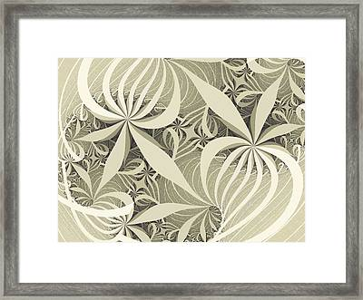Flower Swirl Framed Print