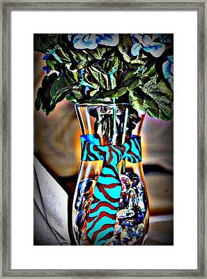 Flower Tie Framed Print by Joyce Brooks