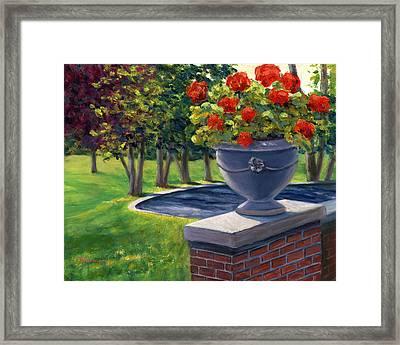 Flower Urn Framed Print