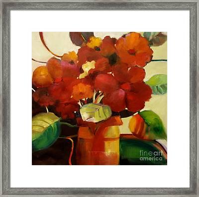 Flower Vase No. 3 Framed Print by Michelle Abrams