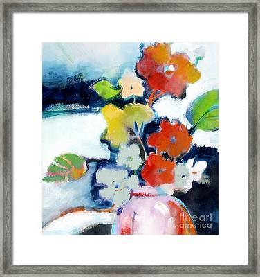 Flower Vase No.1 Framed Print by Michelle Abrams