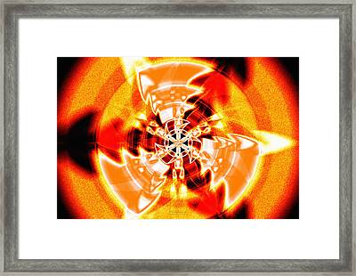 Framed Print featuring the drawing Flower Vectors Of Life by Derek Gedney