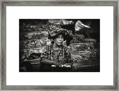 Flower Vendor Framed Print by Tom Bell
