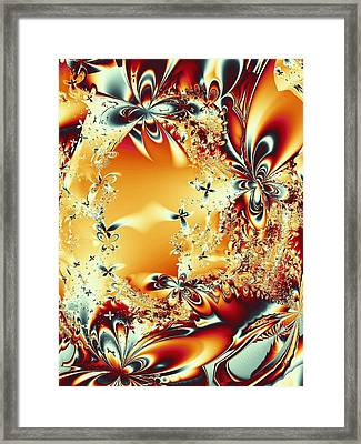 Flower Vortex Framed Print