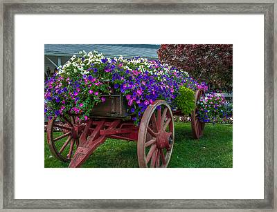 Flower Wagon Framed Print by Gene Sherrill