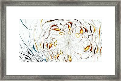 Flower Waves Framed Print by Anastasiya Malakhova