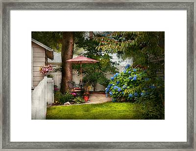 Flower - Westfield Nj - Private Paradise Framed Print by Mike Savad