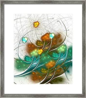 Flower Wind Framed Print by Anastasiya Malakhova