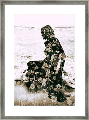 Flower Woman1 Framed Print by Stelios Kleanthous