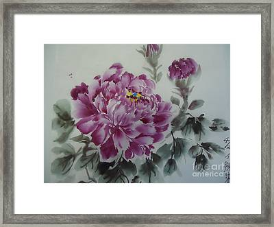 Flower427012-4 Framed Print by Dongling Sun
