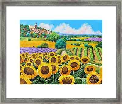 Flowered Garden Framed Print