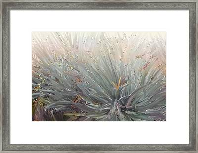 Flowering Bushes In The Fog Framed Print by Angela A Stanton