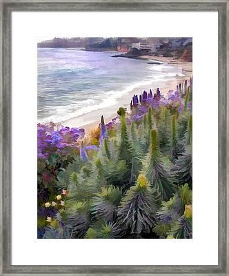Flowering Coastline Framed Print by Elaine Plesser