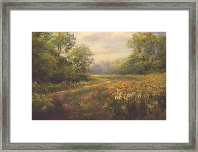Flowering Field Framed Print