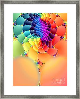 Flowering Fractal Fruit Tree Framed Print by Rebecca Phillips