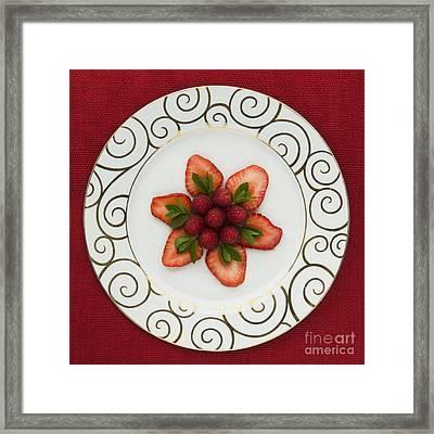 Flowering Fruits Framed Print by Anne Gilbert