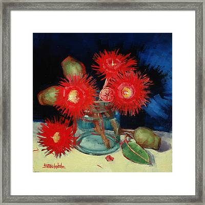 Flowering Gum Still Life Framed Print