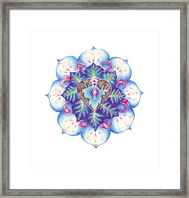 Flowering Of The Heart   Oneness Art Framed Print
