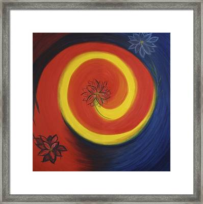 Flowering Vortex Framed Print