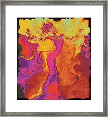 Flowerishing Dancer Framed Print