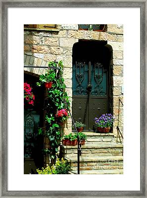 Framed Print featuring the photograph Flowers 4-assisi by Theresa Ramos-DuVon