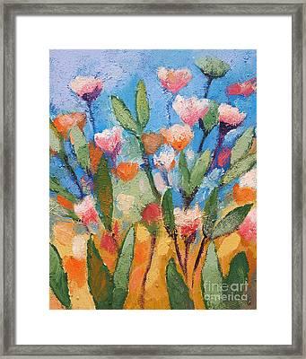 Flowers Again Framed Print by Lutz Baar