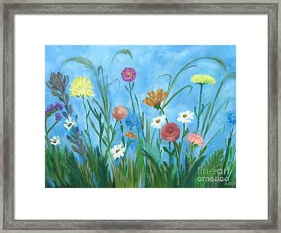 Flowers All Around Framed Print