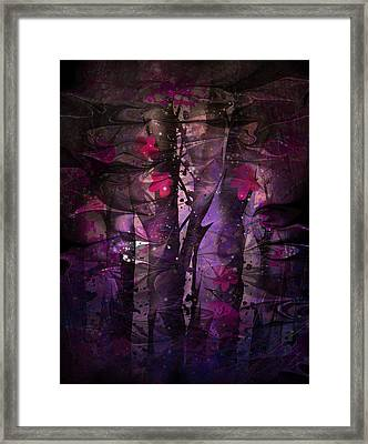 Flowers Among Thorns Framed Print by Rachel Christine Nowicki