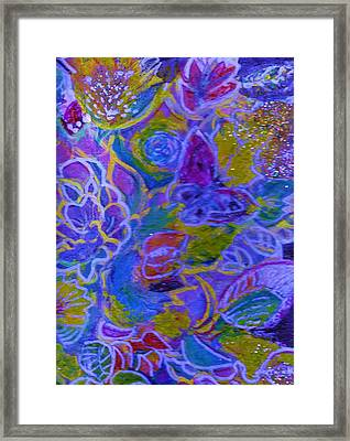 Flowers And A Butterfly Framed Print by Anne-Elizabeth Whiteway