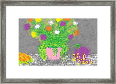 Flowers And Fruit Framed Print by Joe Dillon