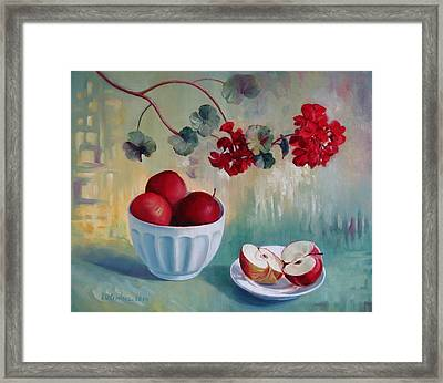 Flowers And Fruits Framed Print by Elena Oleniuc