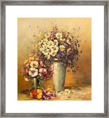 Flowers And Harmony Framed Print by Petrica Sincu
