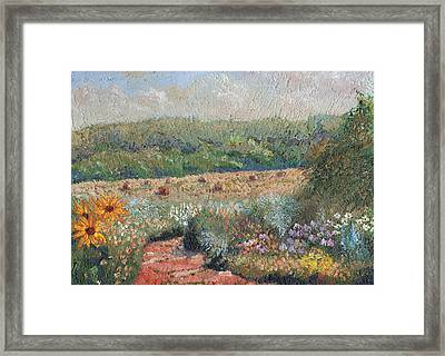 Flowers And Hay Framed Print by William Killen