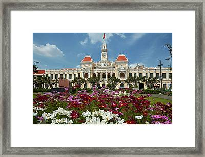 Flowers And Historic People's Committee Framed Print