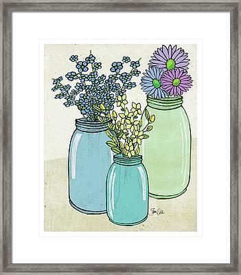 Flowers And Jars I Framed Print