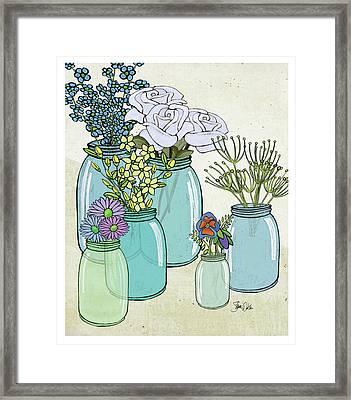 Flowers And Jars II Framed Print