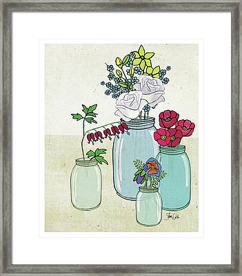 Flowers And Jars IIi Framed Print